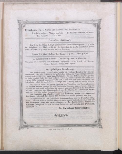 Programmseite vom 02.10.1890
