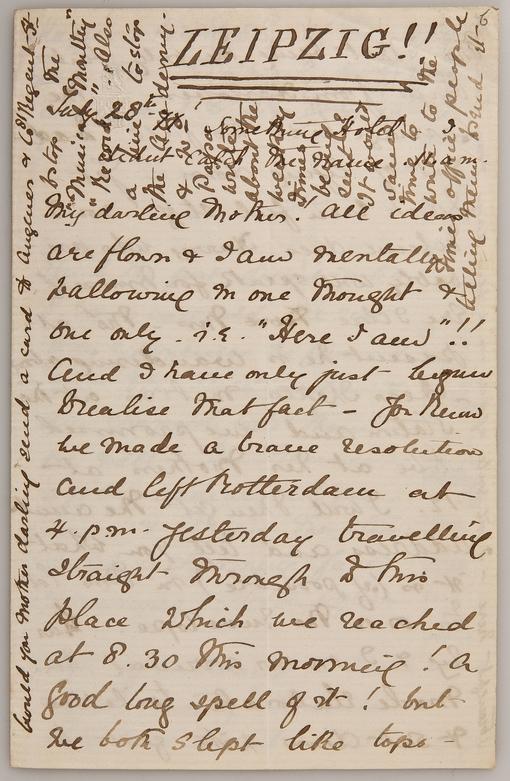 Briefe aus Ethel Smyths Leipziger Studienzeit online veröffentlicht 8. Mai 2019: 75. Todestag der Komponistin, Schriftstellerin und Frauenrechtlerin Ethel Smyth (1858-1944)